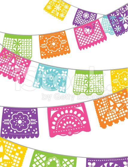 Fiesta Paper Banners Royalty free Stock Vector Art