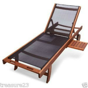 Strathwood all weather outdoor chaise lounge chair for Chaise eucalyptus
