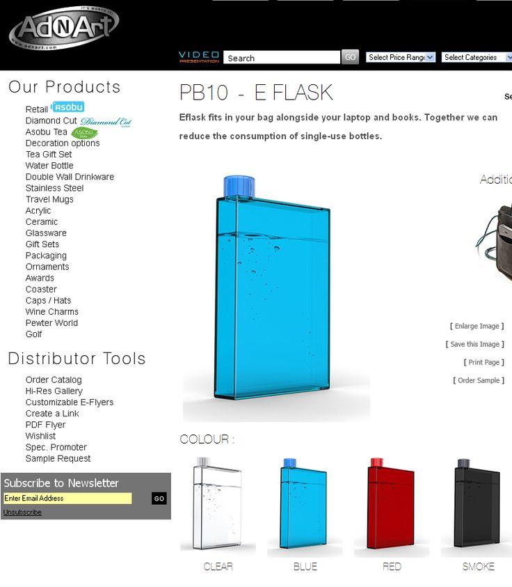 AdNArt-PB10  -  E FLASQUE s'nsére dans votre sac de portable avec vos livres. Ensemble, nous pouvons reduire l'usage des bouteilles à usage unique.   http://www.creatchmanpromo.ca/