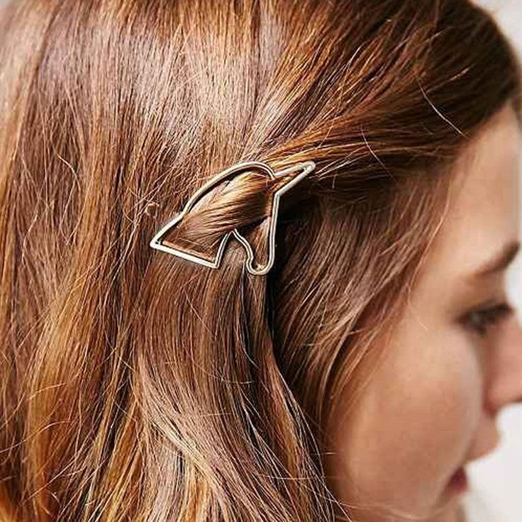 Fashion Hair Clips For Women Hairpins Gold Plated Horse Head Hairwear Barrettes Headdress Haarspange Wedding Hair Jewelry