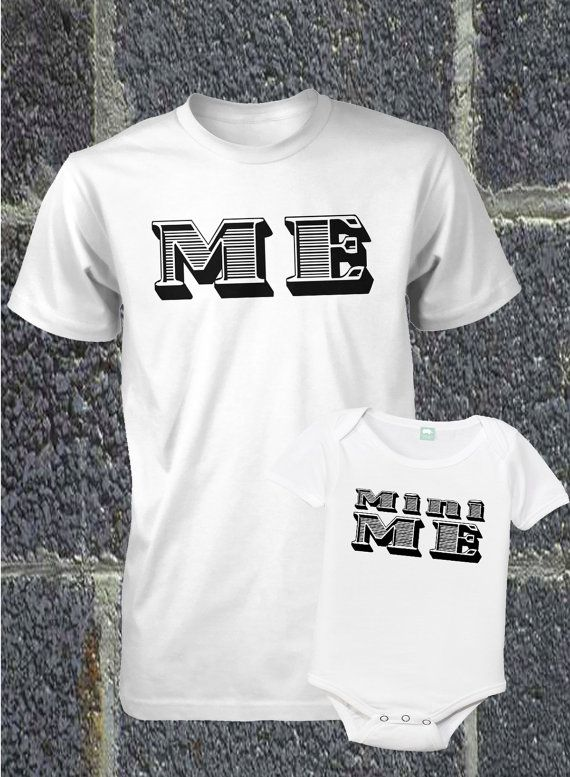 Father and Son Shirt Set ME & MINI ME by FunhouseTshirts, $29.00