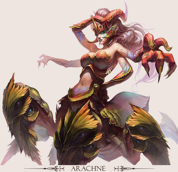 ✧ #characterconcepts ✧ ARACHNE - Stunning Game Characters by Hong Yu-Cheng