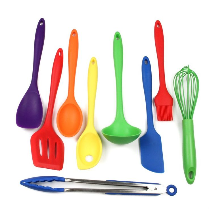 9 Piece Silicone Kitchen Utensil Set