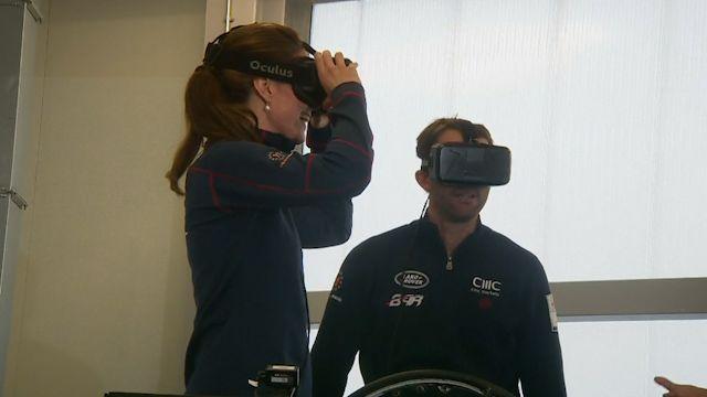 Kate Middleton tries out Oculus Rift sailing simulator