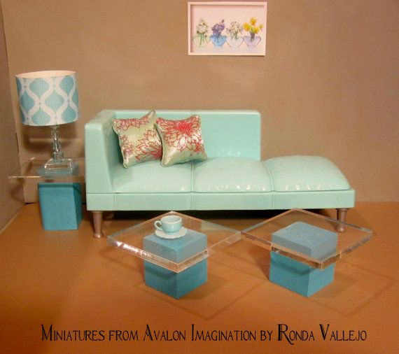 Miniature dollhouse modern wood and by MiniaturesfromAvalon