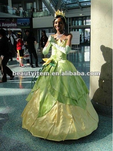 Free shipping Cheap Tiana Cosplay Costume (Princess Dress) from The Princess and the Frog  //Price: $ US $99.00 & FREE Shipping Worldwide//       #clothing #fashion #makeup #lips #face #dress #lipstick #style #trend