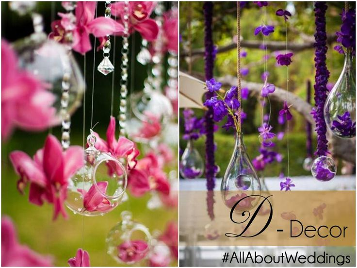 #AllAboutWeddings: Decor  Set the mood of a ceremony or occasion with the perfect decor. Crystal strings and hanging flowers are unanimous picks this season, they work well for both outdoor and indoor events.
