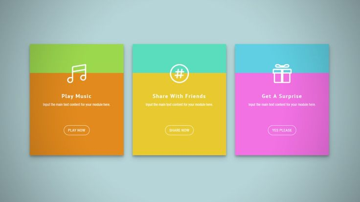 Playful Bicolor Look Feature Cards with Divi Theme