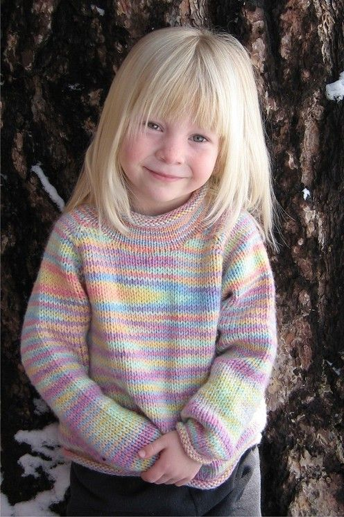 Knitting Pure and Simple--Diane Soucy--Children's Neckdown Pullover (ages 2 - 12)