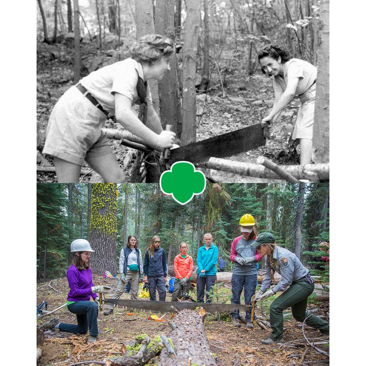Every Girl Scout knows sawdust is forest glitter!   #GirlScouts #Camp #Forestry