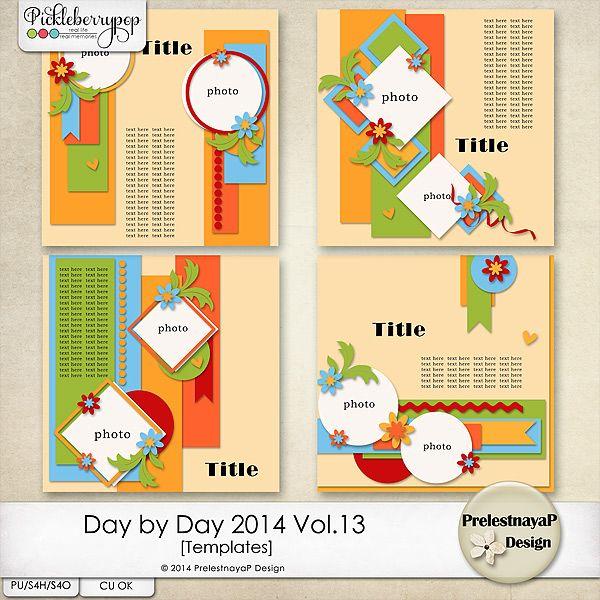 Day by Day 2014 Vol.13 Templates by PrelestnayaP Design