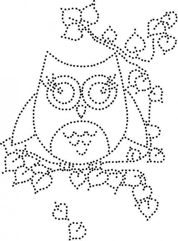 Owl hotfix rhinestone template silhouette cameo