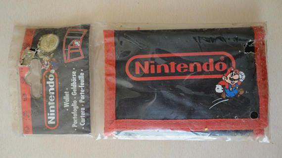 Nintendo Super Mario Trifold Wallet-Vintage Very Rare