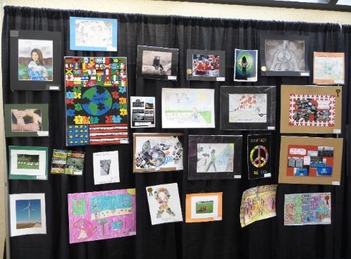 Artwork that advances on to the State level is part of a year-long traveling exhibit. Shown is a selection of artwork from multiple schools (Pre-K through grade 12) in Illinois that were in the 2010-2011 Illinois PTA traveling exhibit.