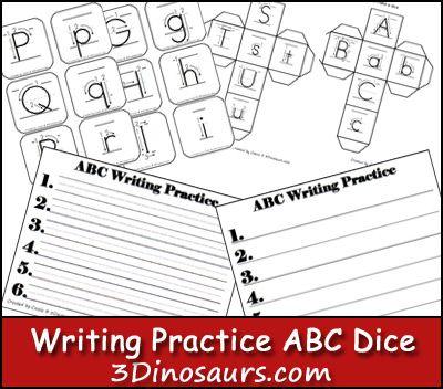 Writing Practice ABC Dice