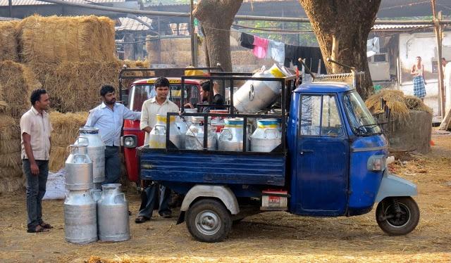 BombayJules: Beautiful Aarey Milk Colony - Milk Float