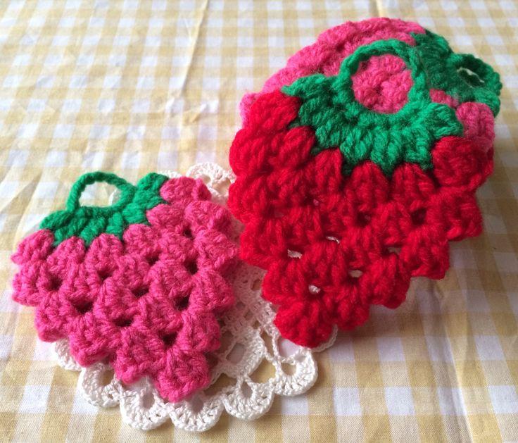 いちごのアクリルたわしの作り方|編み物|編み物・手芸・ソーイング|作品カテゴリ|ハンドメイド、手作り作品の作り方ならアトリエ