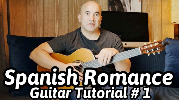 """Guitar Lesson """"Spanish Romance"""" - Classical Guitar Tutorial#1 Note-By-No..."""
