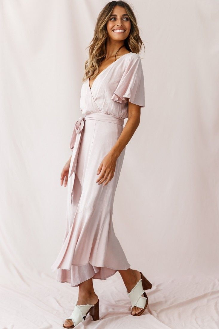 Friday Surplice Neckline Front Split Maxi Dress Mauve Split Maxi Dress Maxi Dress Dresses [ 1100 x 733 Pixel ]