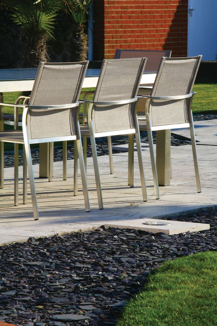 Westminster Outdoor Furniture. These Eye Catching Chairs Are Made From  Brushed Stainless Steel.
