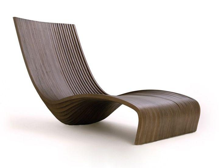 Chaise longue en bois de Banak FEELING | Chaise longue - Compagnie Française de l'Orient et de la Chine
