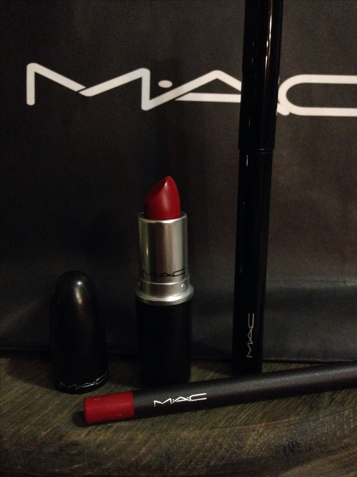 The perfect red lip Mac Russian Red(matte) paired with Kiss Me Quick Mac lip liner