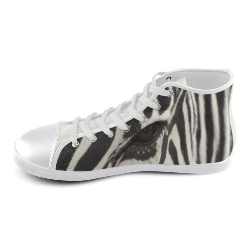 Zebra High Top Canvas Kid's Shoes. FREE Shipping. #artsadd #sneakers #zebra