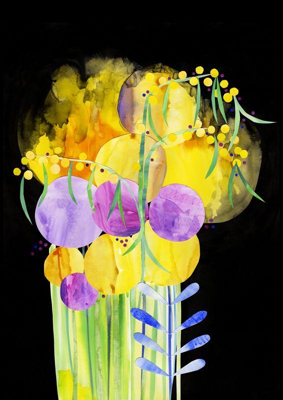 Yellow Cosmos Print Madeleine Stamer