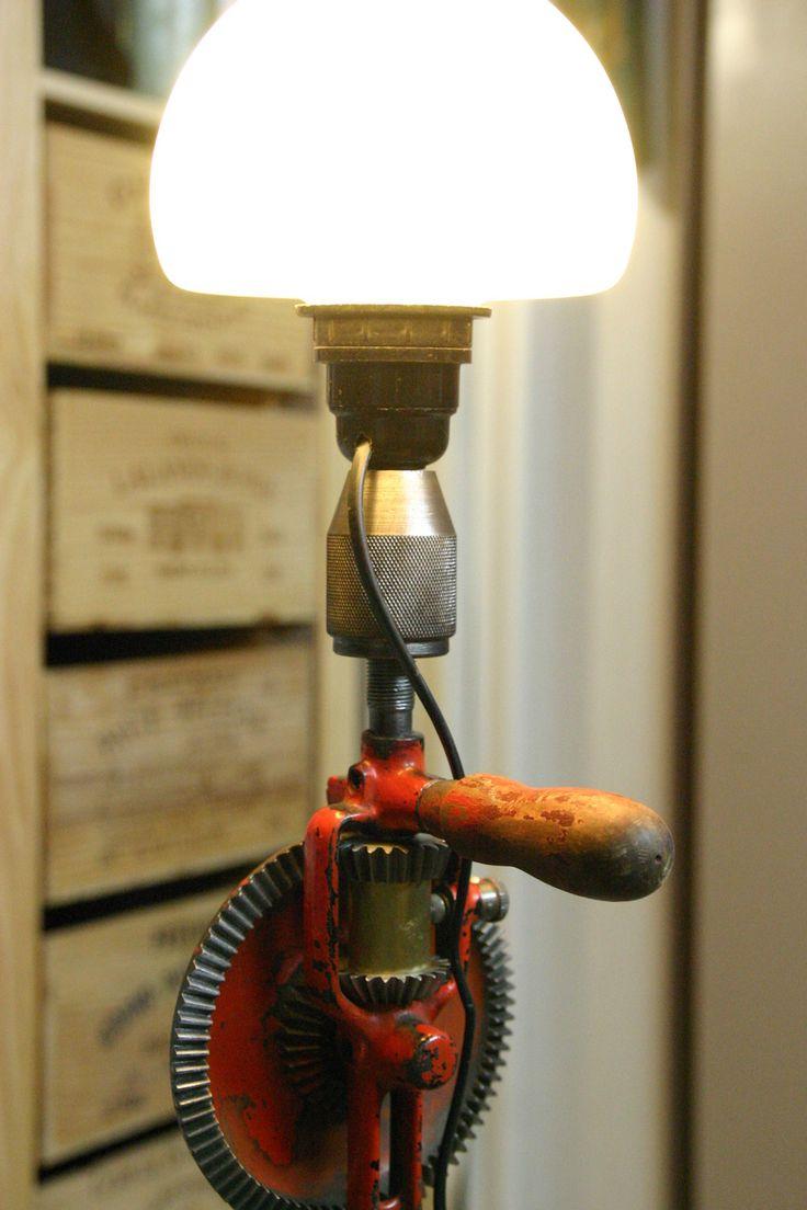 Chignole ancienne transform e en lampe de table lampes lampes de table luminaire et objets - Lampes de salon anciennes ...
