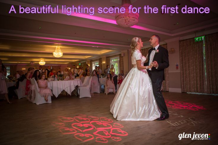 A beautiful first dance lighting scene at the Beaulieu Hotel in the New Forest - DJ Martin Lake