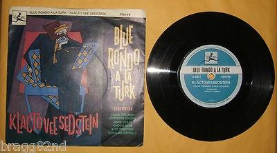 vintage 45 RPM Record BLUE RONDO A LA TURK / KLACTO VEE SEDSTEIN
