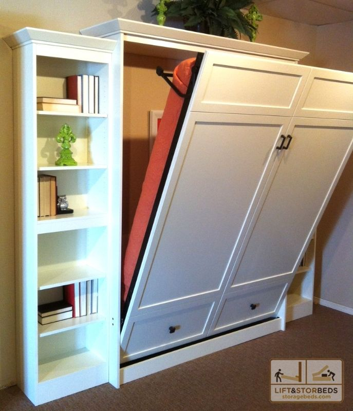 Love this space saving bed! Could be a great way to incorporate a guest room and office into one room without the constant presence of a bed