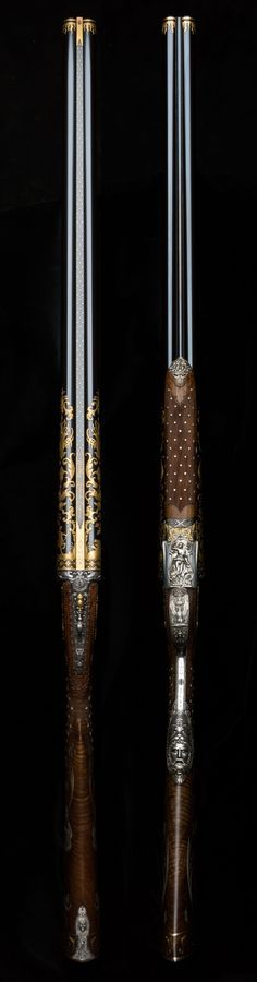 The 'Boutet Gun' was a speculative gun built by Westley Richards in the mid 1980's. The gun was a 12g pinless sidelock. The Boutet style was designed in the style of Nicolas Noel Boutet. The commission was faultlessly executed by the then mostly unknown but now infamous 'Brown Brothers'.