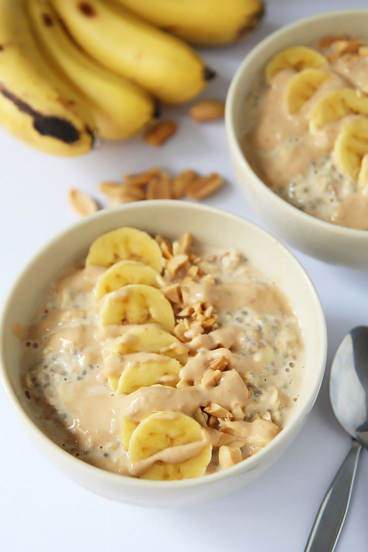 This bowl of Peanut Butter Banana Overnight Oats combines the ideas of healthy breakfast and comfort food. For extra nutrition I added chia seeds.