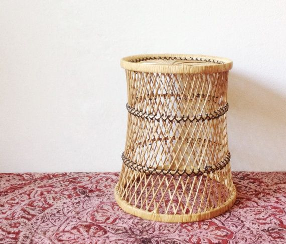 Vintage wicker plant stand by VelvetEra on Etsy