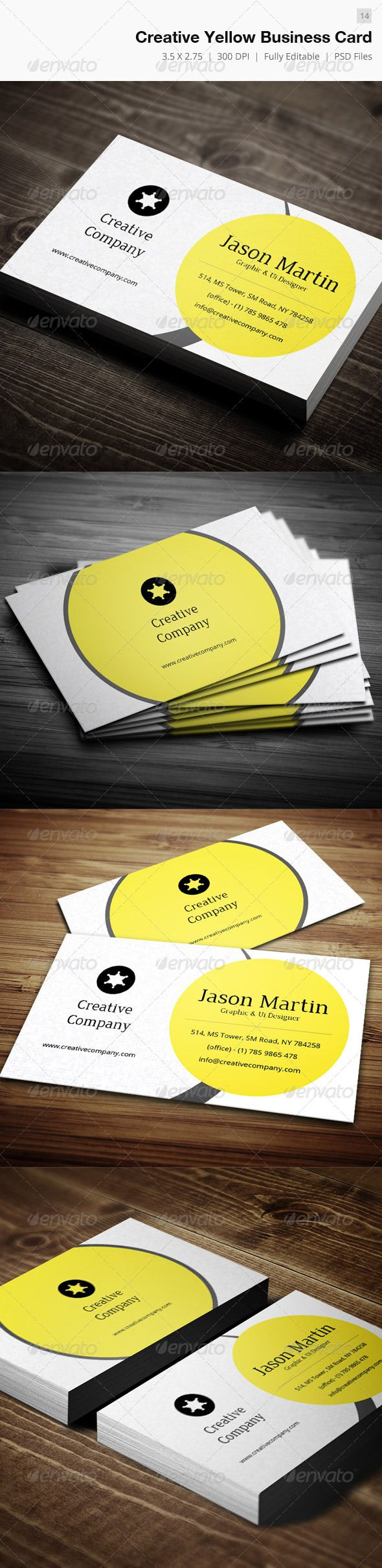 974 best business card template design images on pinterest creative yellow business card 14 alramifo Images