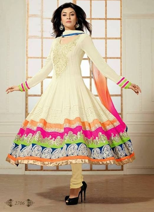 This is the image gallery of Sushmita Sen Anarkali Frocks Dresses 2014 for Girls. You are currently viewing Sushmita Sen Anarkali Frocks 2014 for Girls (5). All other images from this gallery are given below. Give your comments in comments section about this. Also share stylespoint.com with your friends.  #anarkalifrocks, #indiandresses, #anarkalisuits, #sushmitasen