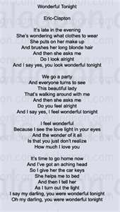 Wonderful Tonight this was the song that you and your daddy danced to on your wedding day I miss you girl !