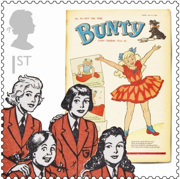 Special Stamp Collection 'Comics' featuring Bunty
