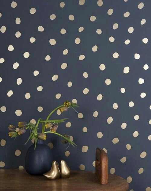 1000 ideas about polka dot walls on pinterest polka dot for Gold polka dot china