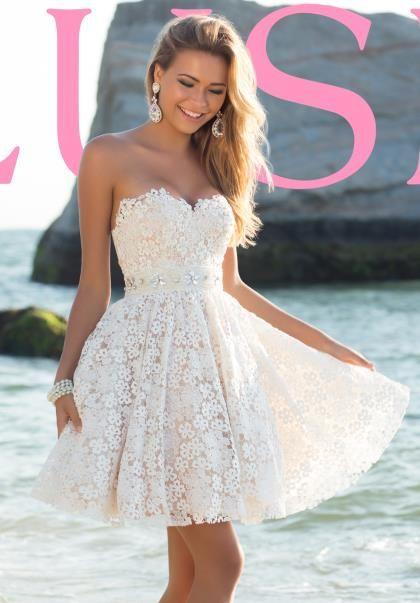 Blush A Line Applique Dress 9900