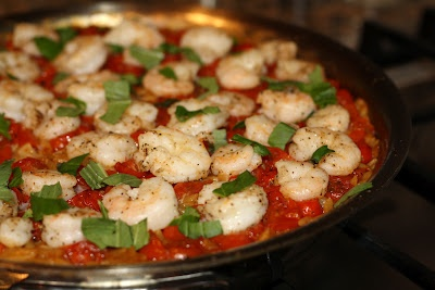 what's for dinner?: skillet shrimp and orzo... 35 minutes