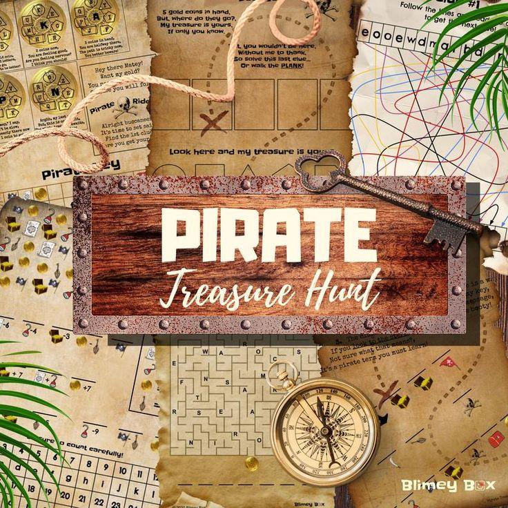 Pirate Treasure Hunt Escape Game for kids Printable