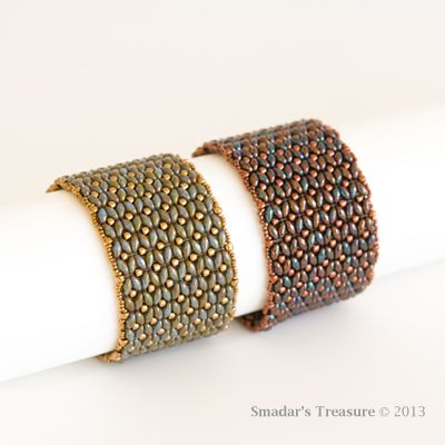 superduo patterns | Dramatic SuperDuo Bracelet Beading Pattern - PDF File - for Persona ...