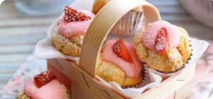 Strawberry cupcakes – Recipes – Slimming World - 2.5 syns - less than 30 mins