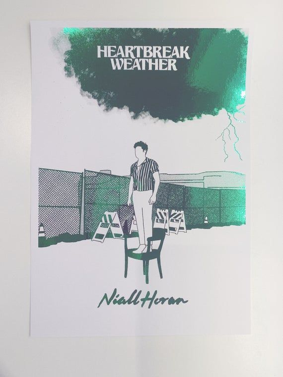 Heartbreak Weather Niall Horan Foil Print In 2020 Niall Horan Foil Print Heartbreak