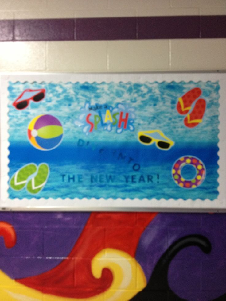 Summer Themed Classroom Decorations : Back to school bulletin boards with beach theme