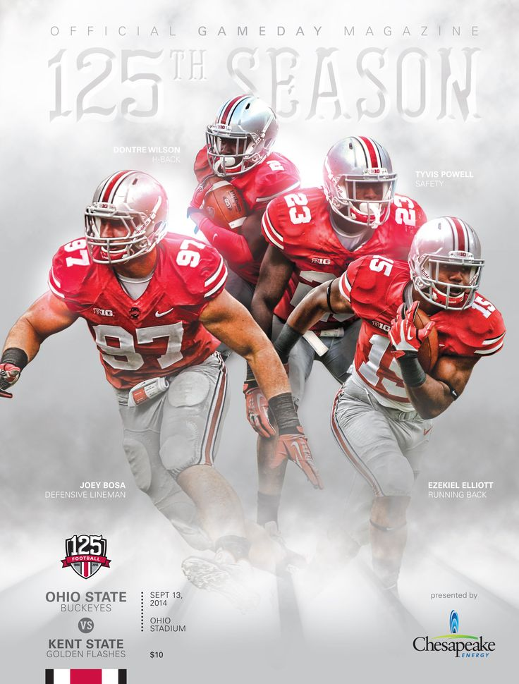 Tomorrow's game programs, today! Get an early look at the Ohio State vs. Kent State Official Football Program for September 13, 2014 at Ohio Stadium. #Buckeyes (via IMGproducts.net)