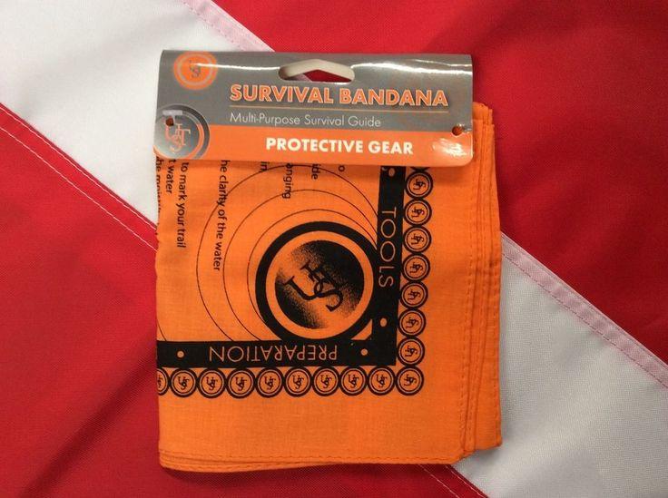 Survival bandana guide bugoutbag disaster camp prepper GIFT stocking stuffer UST #UST