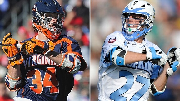 The Johns Hopkins Bluejays Lacrosse Team vs The University of Virginia Cavaliers (Wahoos) today on ESPNU -  for the No. 1 ranking.